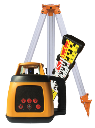 RL200 Rotating Laser Level c/w Staff and Tripod | 519072